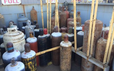 How To Safely Store Compressed Gas Cylinders In A Scrap Metal Yard